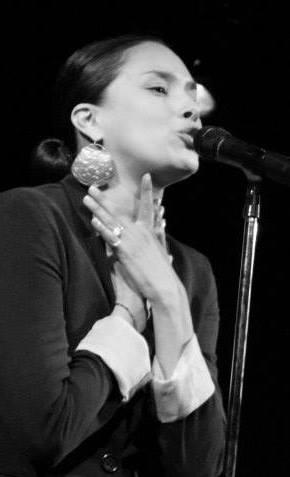 Jessica Helen Lopez at mic