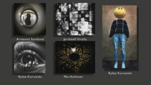 5 photographs with the photographers name listed underneath
