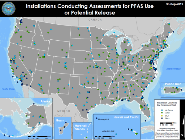 PFAS Map Use or Potential Release