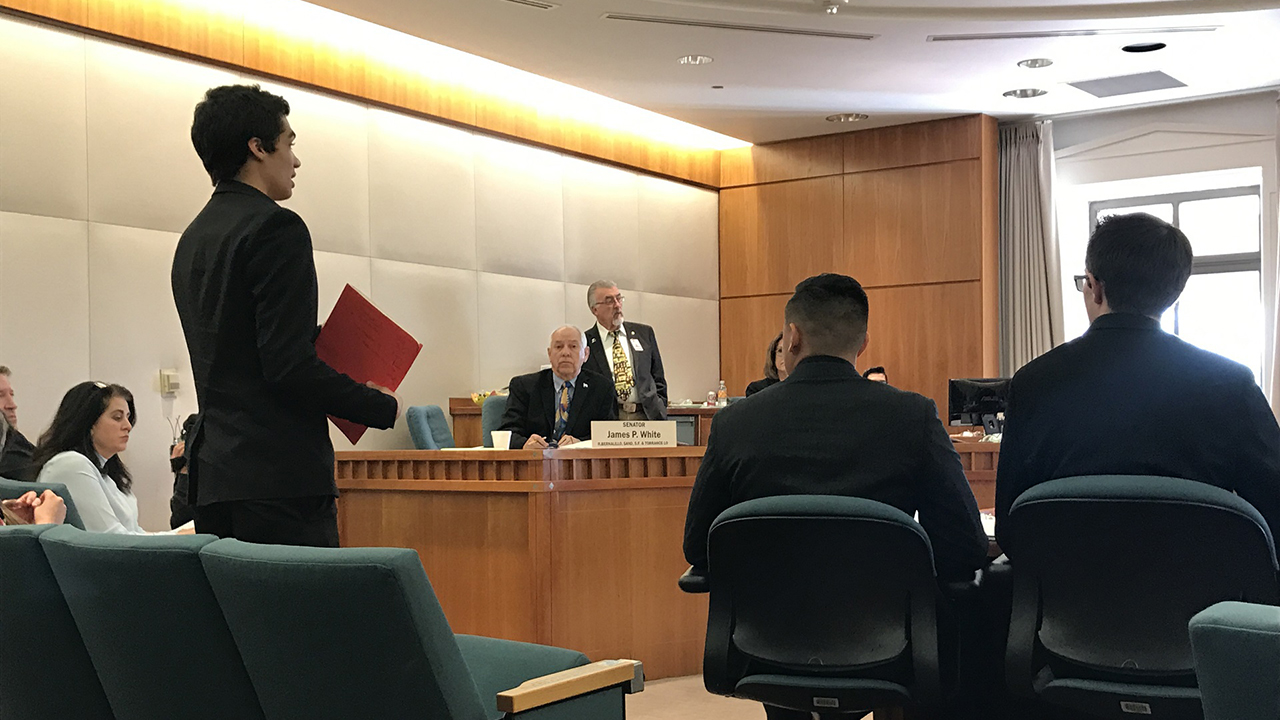 NMiF: student testifies in the Senate Education Committee