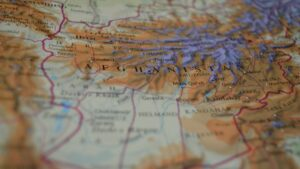 A topographic map of Afghanistan.