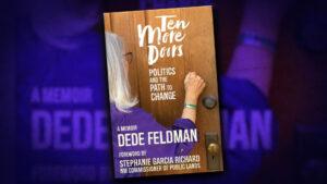 """The cover of Dede Feldman's book """"Ten More Doors"""""""