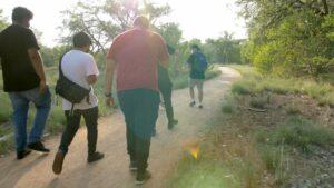 People walking on a trail