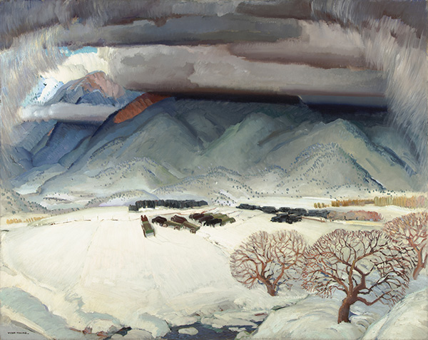 Winter Funeral, 1932, Oil Painting, Victor Higgins<br />Courtesy The Harwood Museum of Art