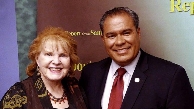 Lorene Mills and Senator Michael Padilla