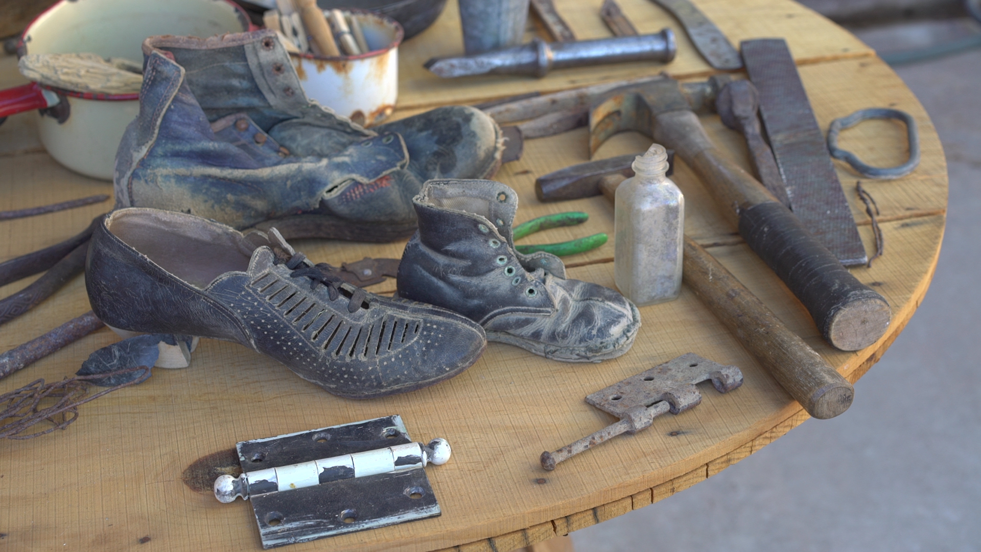 Whats Left of Shoes in Rio Puerco
