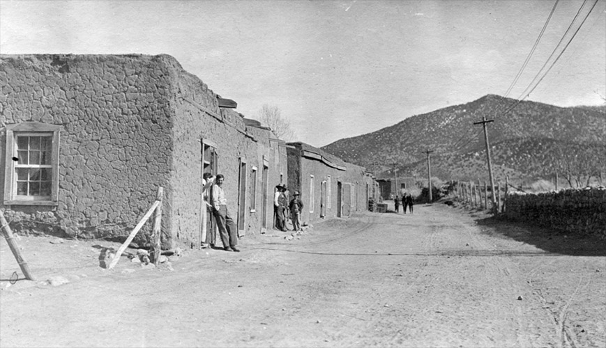 Canyon Road at Acequia Madre 1913 Courtesy Palace of Governors Photo Archives