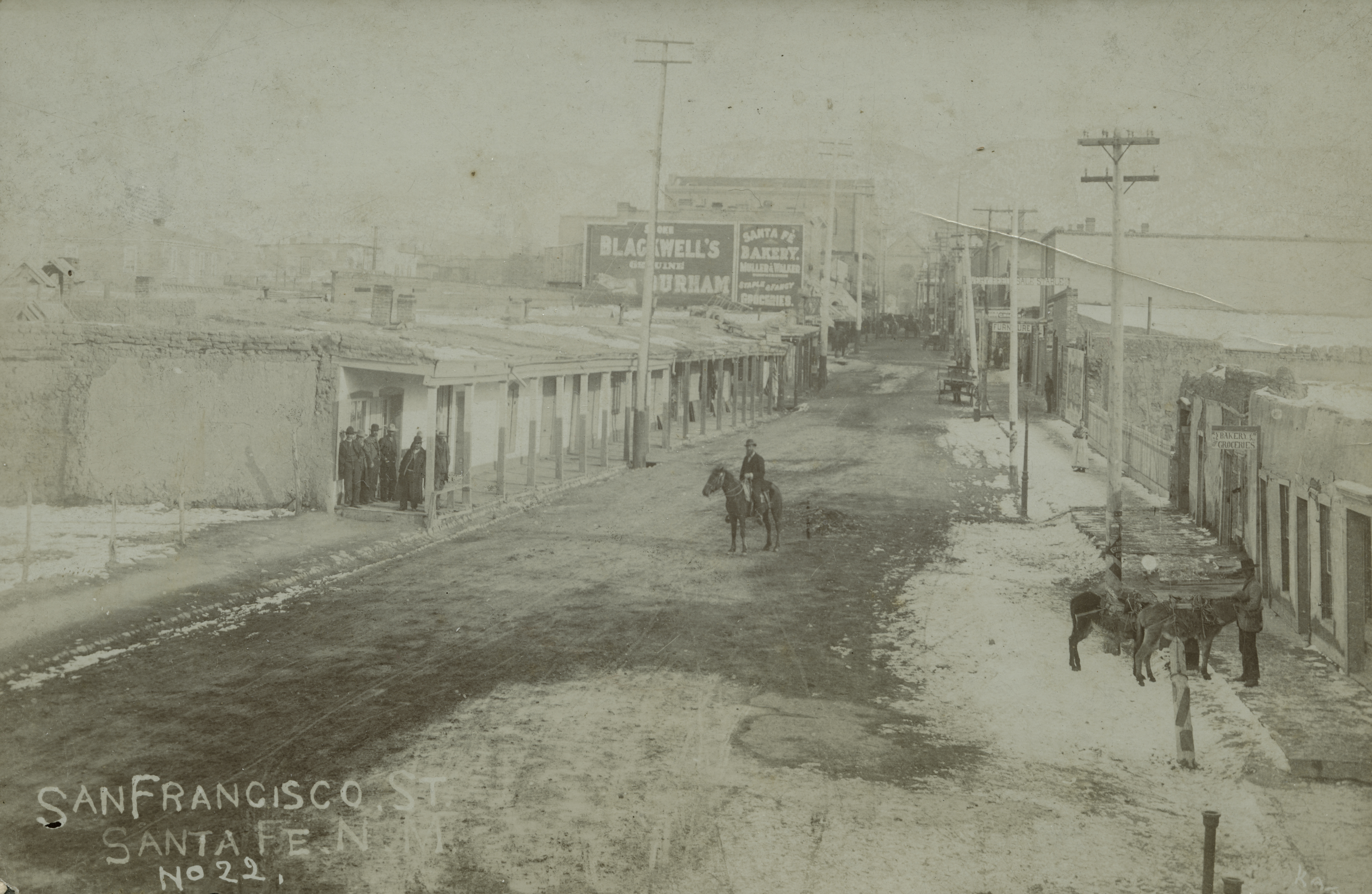 Lower San Francisco Street Looking East by Christian Kaadt Santa Fe c. 1889-1905 Courtesy Palace of the Governors Photo Archives