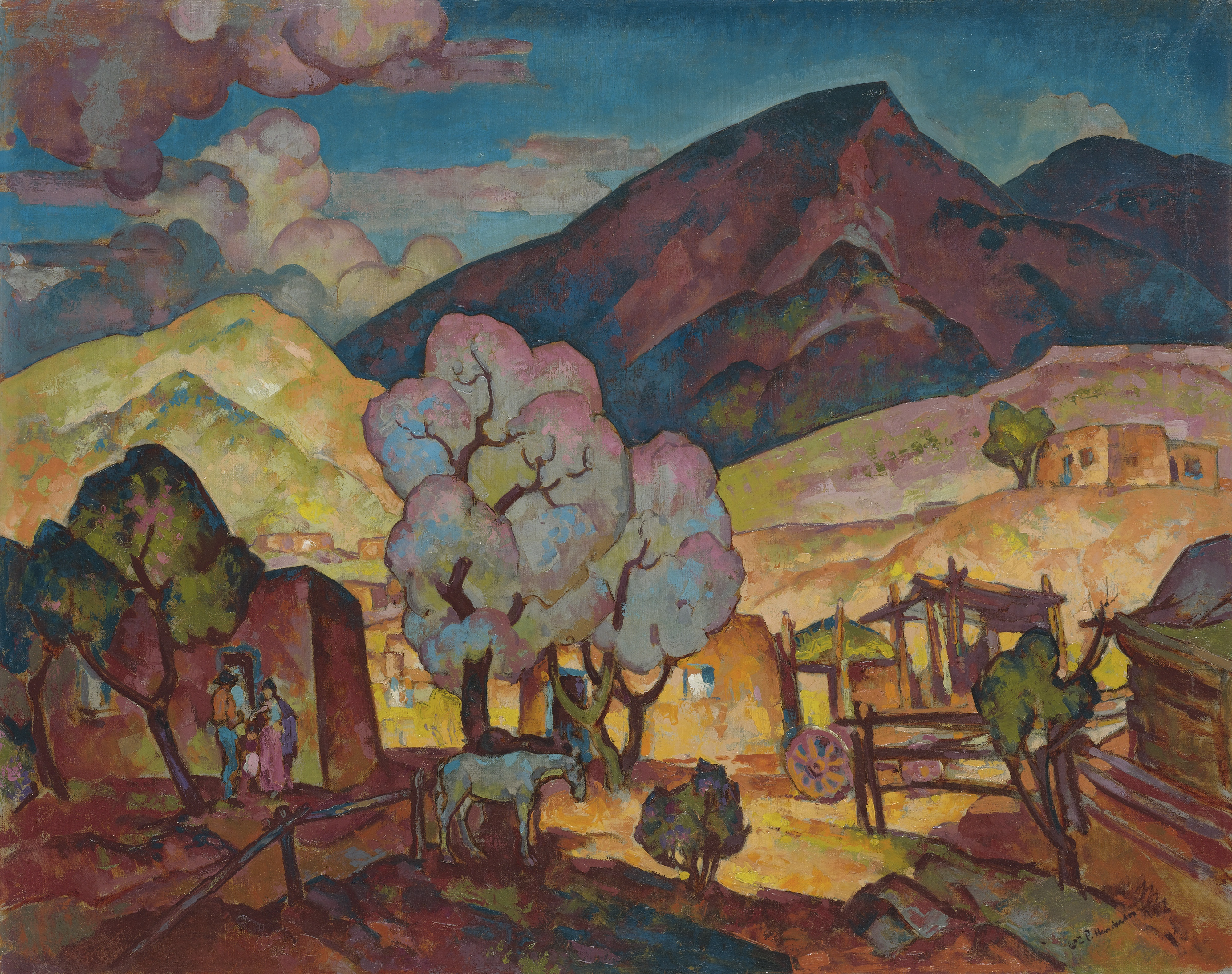 Lucero's Place, c. 1920 William Penhallow Henderson Private Collection Chattanooga TN, Photo Courtesy Addison Rowe Gallery