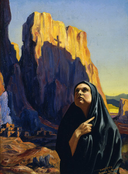 12_PAINTING ALBUQUERQUE - Romero de Romero_ The Black Shawl_1933_NM Museum of Art