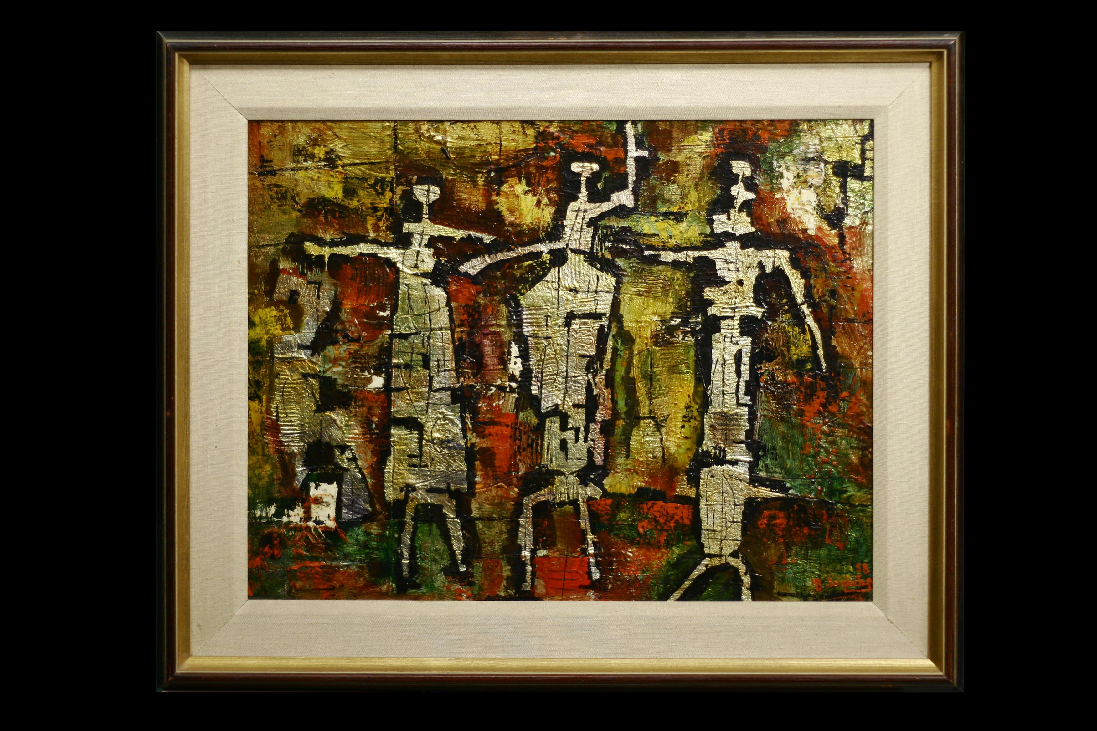 9_PAINTING ALBUQUERQUE - Howard Schleeter - Figures #1 _ 1958_Collection Michael Kamins