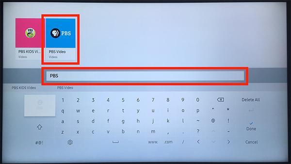 Samsung PBS Search