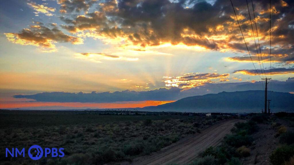 ABQ Sunset Background