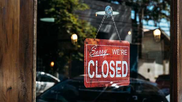 Businesses Closing Again