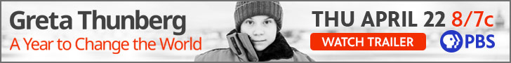 Greta Thunberg A Year To Change The World_ Digital Static Banner Ad_Watch Trailer_Pre Premiere_728x90