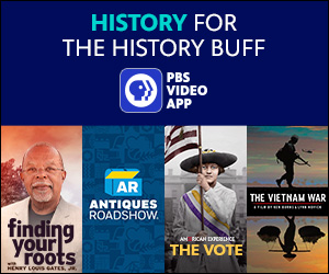 Watch history programming on the PBS Video App