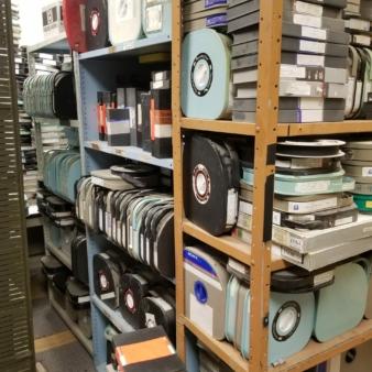 media in storage at KENW